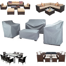 2 Colors  Patio Waterproof Cover Outdoor Garden Furniture Covers Rain Snow Chair Covers for Sofa Table Chair Dust Proof Cover
