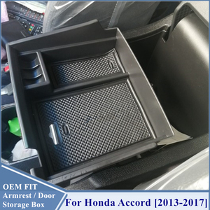 Image 5 - For Honda Accord Accessories Car Front Door Storage Box Organizer Cover Interior Trim 2013 2014 2015 2016 2017 2017 Styling