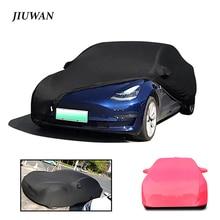 JIUWAN Stretch Customized Car Cover Dustproof Anti-scratch Anti-ultraviolet Car Sun Shade Cover Fit for Car Tesla Model 3 S X Y
