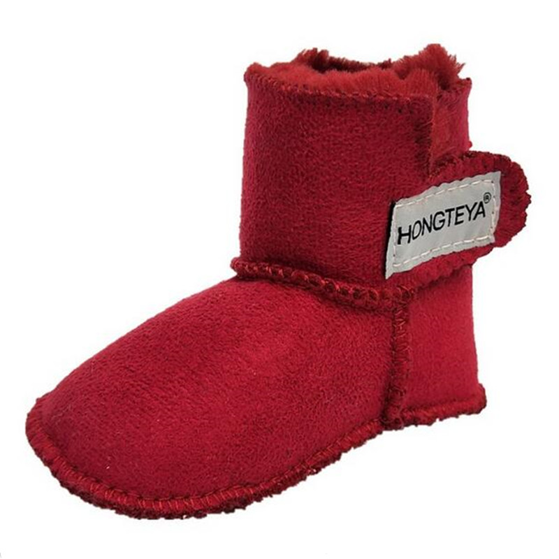 New Winter Baby Snow Boots Infant Super Warm Baby Moccasins With Fur Girls Baby Booties Newborn Toddler Boys Boots Crib Shoes