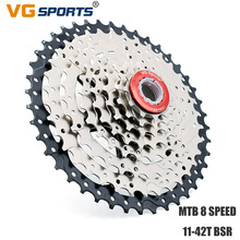 VG sports MTB 8 Speed 11-42T Cassette Flywheel 8s Bicycle Sprocket Freewheel for Shimano Sram cdg cog Velocidade