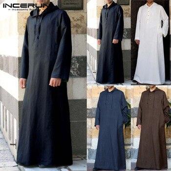Túnica musulmana con capucha para hombre, caftán de vestir, Arabia Saudita, Dubái,...