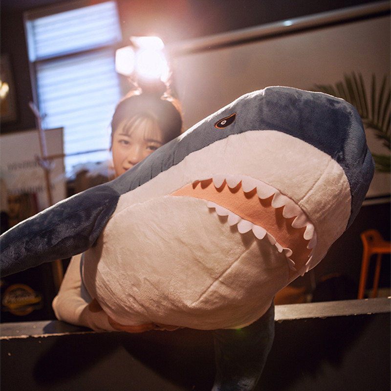 Giant Simulation Russia Shark Skin Pillows Shark Plush Fish Pillow Toys Lifelike Appease Soft Animal Kids Baby Toy Child Gift