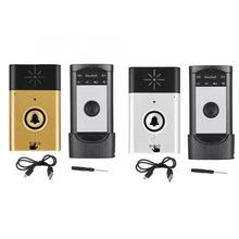 Timbre de timbre inalámbrico timbres de intercomunicación de dos vías timbre de Casa juego de intercomunicador timbre de puerta a prueba de agua sin batería