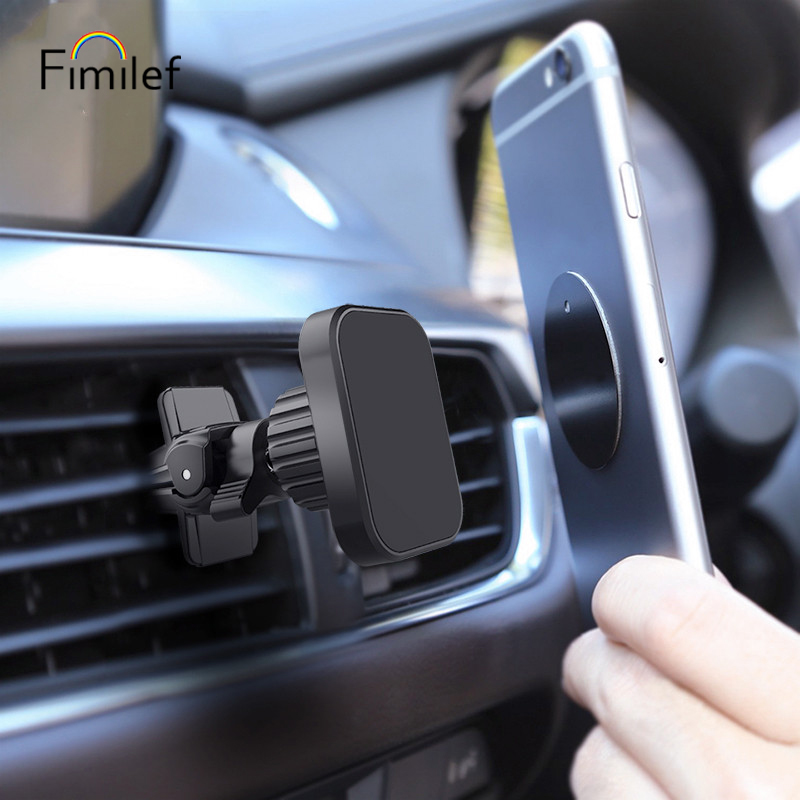 Universal Rotary Lock Vent Hole Magnetic Car Bracket Auto Supplies Mobile Phone Bracket For Xiaomi Iphone 11 X Xs Samsung Note