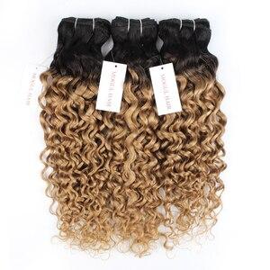 Image 2 - Mogul Hair Water WAVE ผมสานสีธรรมชาติ 1 Bundle สีน้ำตาลเข้ม Ombre น้ำผึ้งน้ำผึ้ง Non Remy มนุษย์ hair EXTENSION