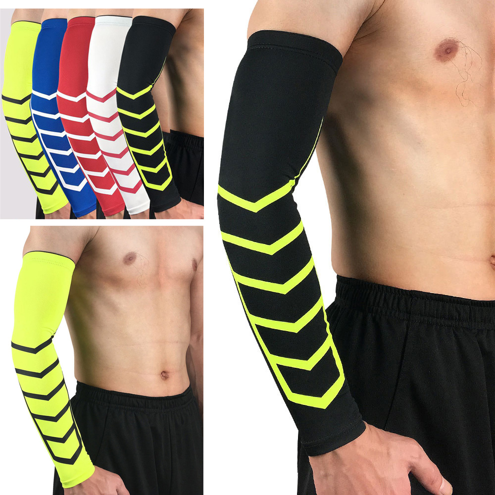 Sports Arm Sleeve Elbow Pads Elastic Arm Guard For Basketball Volleyball 1PC