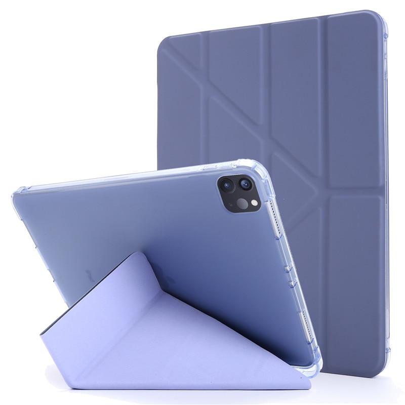 purple Green For iPad Pro 11 2020 Case PU Leather Soft Back Slim Smart Tablet Funda For iPad