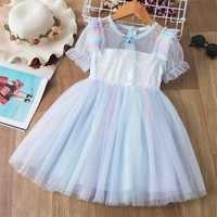 Vestido de princesa para niña bebé de 3 a 8 años, tul con encaje, tutú para fiesta de cumpleaños y boda, desfile, ropa para niños, Disfraces para niños
