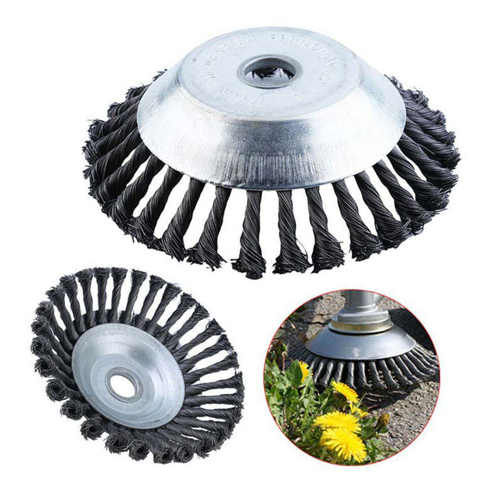 150mm/200mm Lawnmower Long Lifetime And Durable Steel Wire Trimmer Head Grass Brush Cutter Dust Removal Weeding Plate