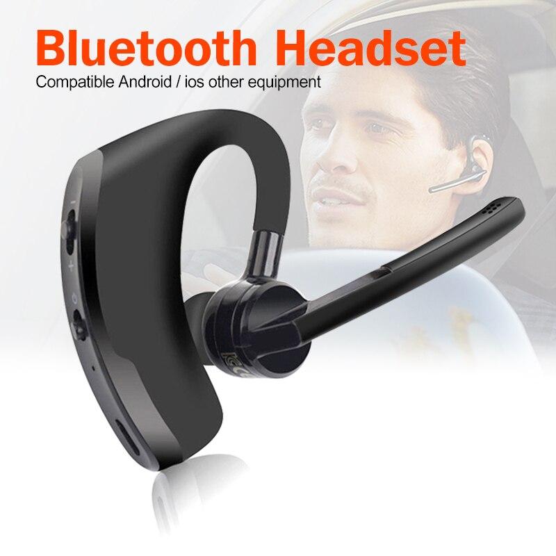 V8 Bluetooth écouteur affaires sans fil casque V9 Bluetooth casque mains libres avec micro pour conduire voiture Wok pour iPhone Samsung