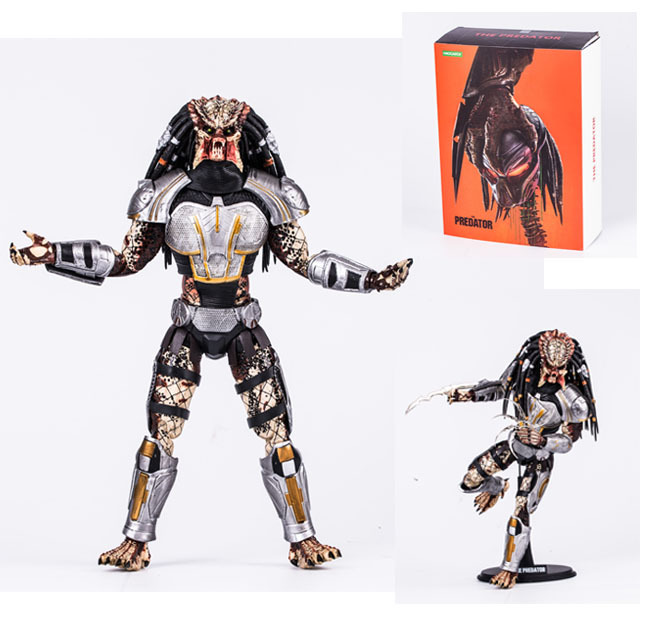 32.5cm Predator 1/6 Scale Action Figures Super Movable Joints Face Change High Quality Pvc Figurines Superhero Colection Toys