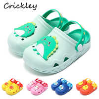 Kids Garden Shoes Soft Non Slip Removable Croc Shoes for Toddler Boys Girls Cartoon Animal Pattern Beach Bathroom Slippers