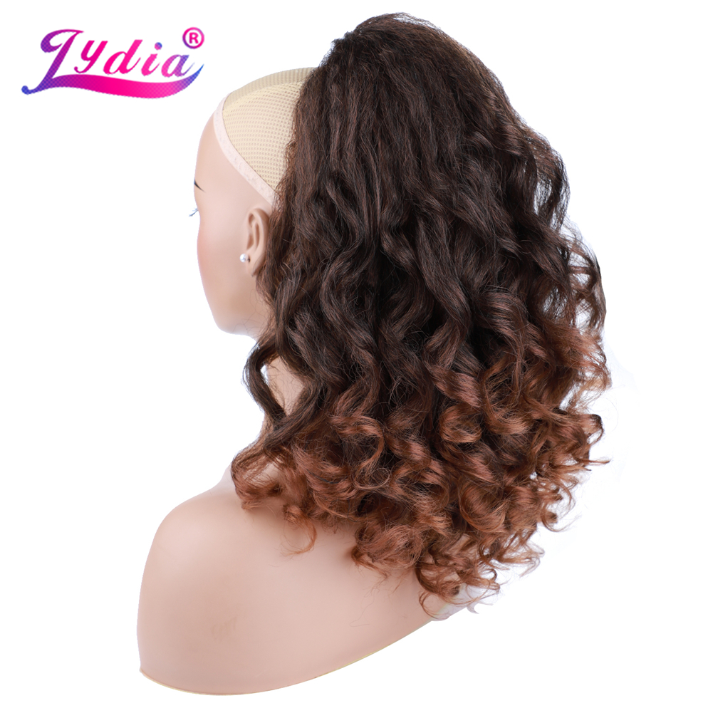Hot DealsLydia Hairpiece Ponytail Long Drawstring Curly Natural Black Synthetic Women with TwoÀ