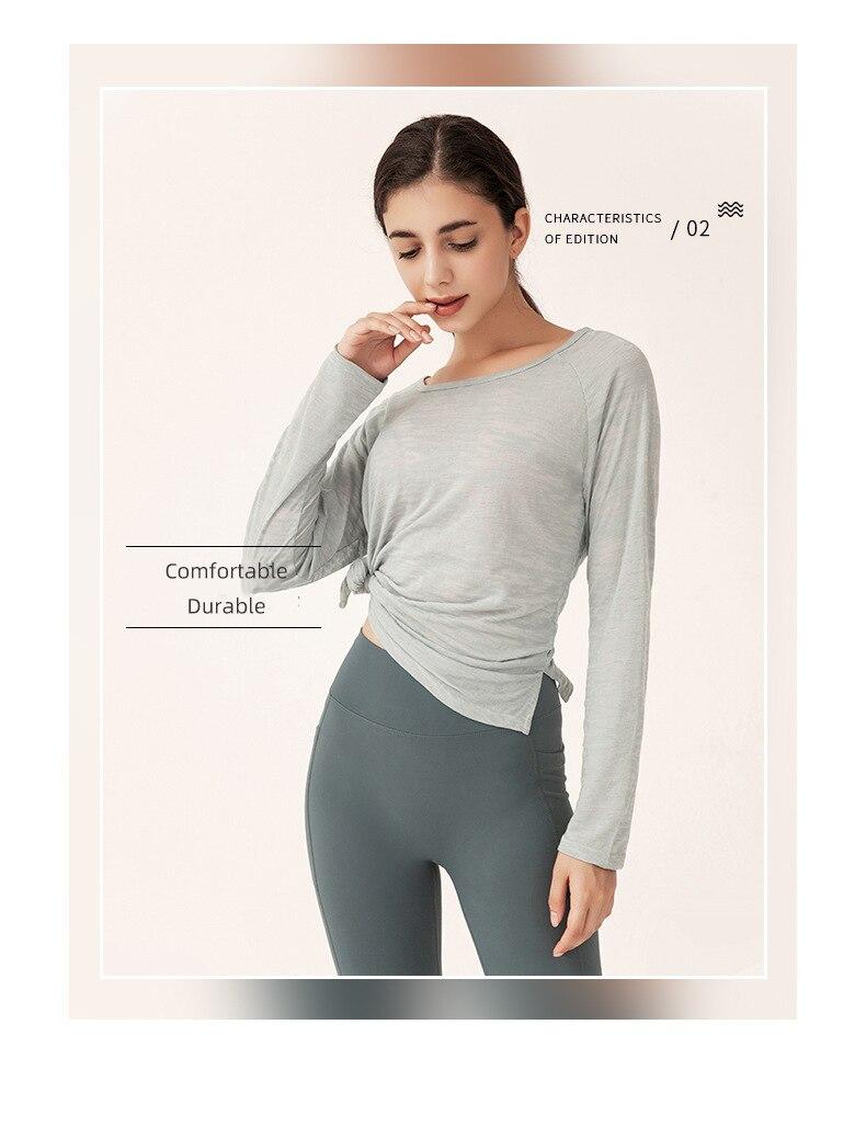 topos para mulheres roupas de fitness manga