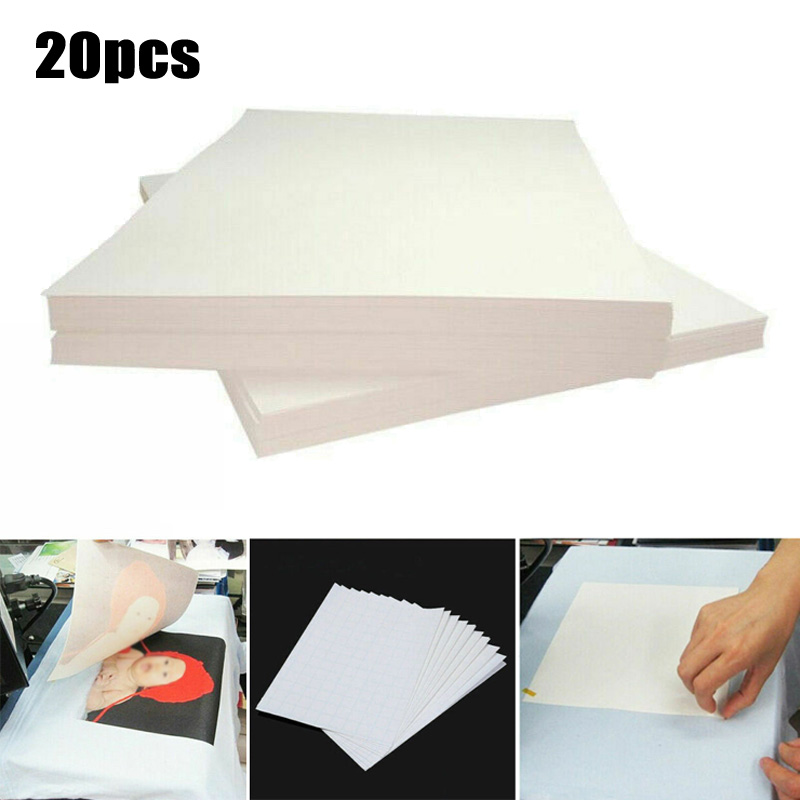 20 PCS Heat Transfer Paper T-Shirt Inkjet Iron On Sheet Light Fabric Cloth Craft Thermal Transfer Papers