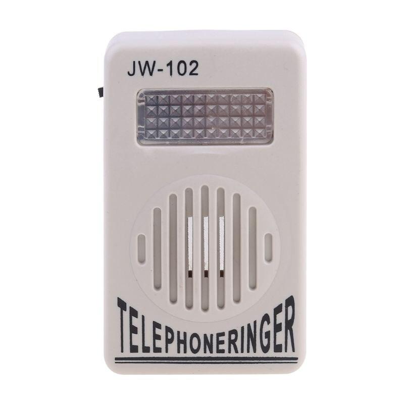 2021 New Telephone Ringer Phone Amplifier Ring Speaker Strobe Light Flasher Bell Extra-Loud Sound Wall Hanging