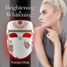 Led Luminous Face Mask Infrared Light Facial Therapy Mask LED Light Treatment Photon led Light therapy Face Mask in Beauty Salon