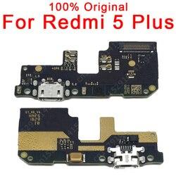 Originale Pezzi di Ricambio Per Xiaomi Redmi 5 Più Il Consiglio di Carica USB Spina del Cavo Della Flessione Per Redmi 5 Più Porta di Ricarica PCB Connettore Dock
