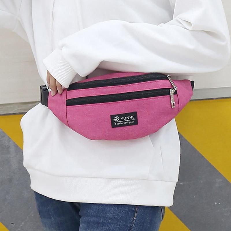 WENYUJH Fanny Pack Mini Backpack Women Men Waist Bag Colorful Unisex Waistbag Belt Bag Mobile Phone Zipper Pouch Packs Belt