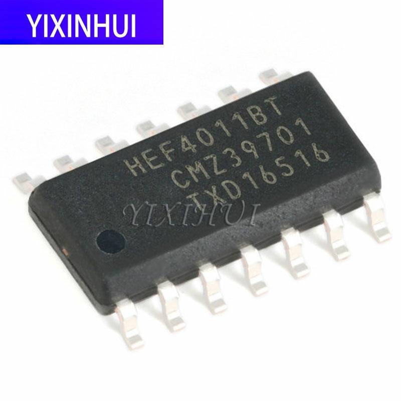20 pces smd hef4011bt, 653 SOIC-14 quatro-way 2-entrada nand porta lógica chip integração eletrônica