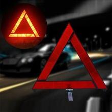 Samochód awaryjny trójkąt ostrzegawczy czerwony odblaskowy zagrożenie bezpieczeństwa samochód statyw składany znak Stop reflektor cinta reflectante
