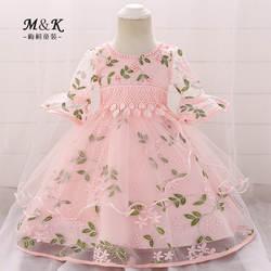 Amazon/Лидер продаж, платье для маленьких девочек от 1 года до 3 лет торжественное платье для маленьких девочек юбка с вышивкой и колокольчиками