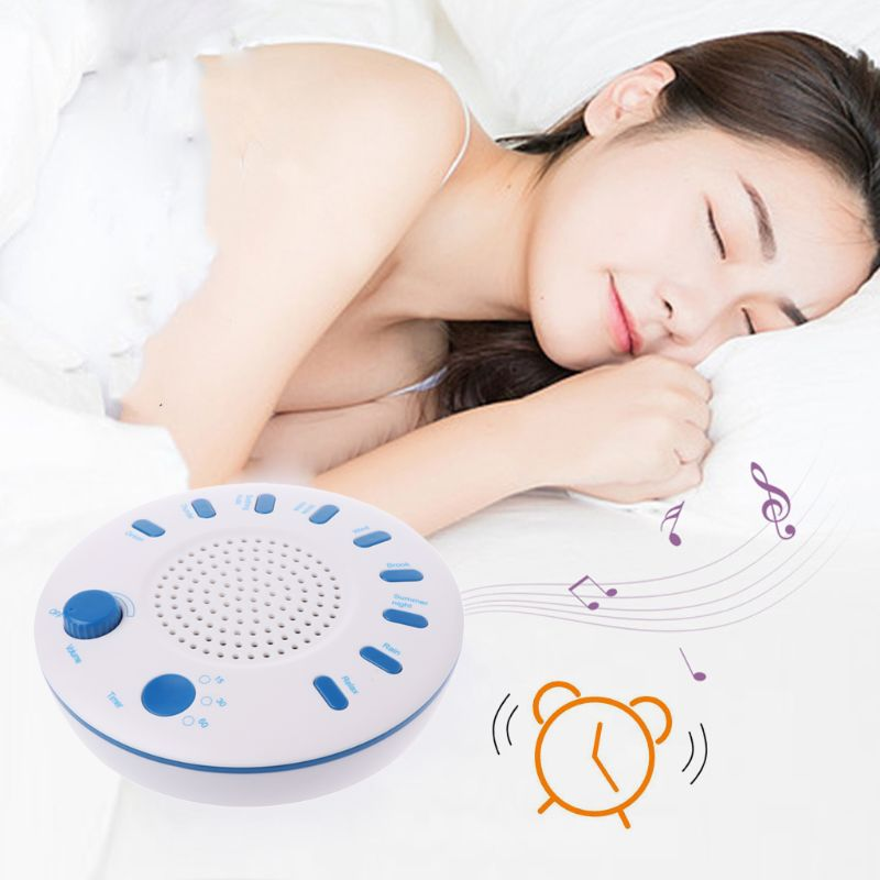 Sleep White Noise Machine Portable Sound Therapy For Baby And Adult Sleeping And Relaxation Device 9 Natural Sounds 95AE