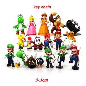 3-7 см Super Mario Bros ПВХ Фигурки игрушки Yoshi peach принцесса luigi shy guy Odyssey Donkey Kong модель куклы