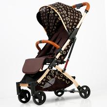 Ultralight Baby Stroller High Landscape Four-wheeled Trolley Lightweight Baby Carrier Portable Travel Pram Hot Mom Pink Stroller