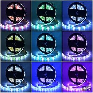 Image 5 - Dc12v led luz 5050 smd rgbw rgbww tira conduzida fita flexível + 2.4g rgbw led controlador + adaptador de energia kit 10 m 15 m 20 m