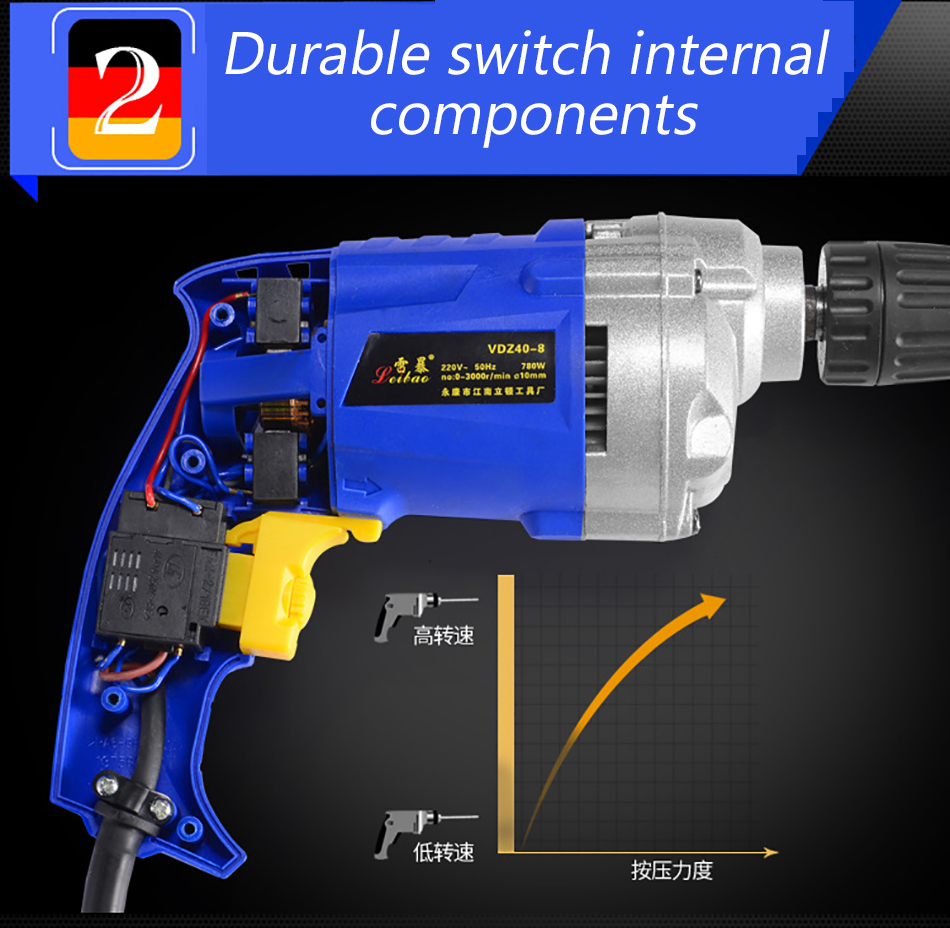 Electric drill 16