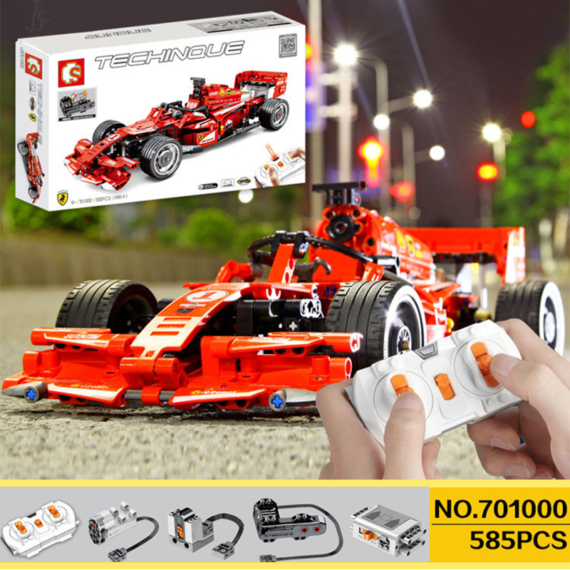 Sembo Blocks With 5292 Motor Compatible Legoing  RC Race Buggy Technic Voiture Building Bricks Educational Toy Boy Birthday Gift
