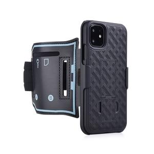 Image 1 - スポーツケース腕章 iphone 11 pro x xr xs 最大カバー運動電話ホルダーアームバンドキックスタンドバックケースシェル
