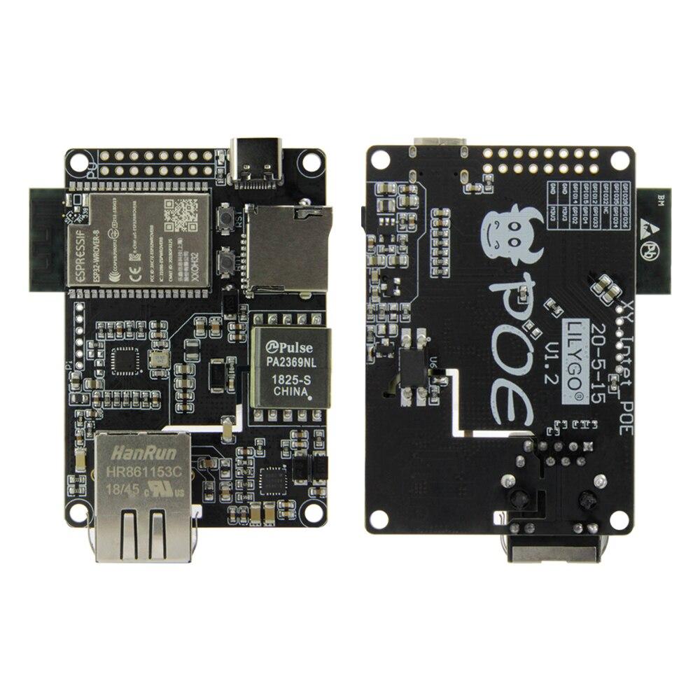 Официальный адаптер TTGO T-Internet-POE ESP32-WROVER-B LAN8720A Chip Ethernet и плата расширения загрузчика программируемое оборудование