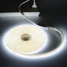 1 м-28 м Водонепроницаемый 120 светодиодный s/M AC220V светодиодный светильник полосы Диодная лента 2835SMD гибкий светодиодный веревка светильник s О...