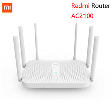 Xiaomi Redmi AC2100 Router Gigabit 2.4G 5.0G Hz Dual-Band 2033Mbps Wireless Router Wifi Repeater dengan 6 tinggi Antena Yang Lebih Luas(China)