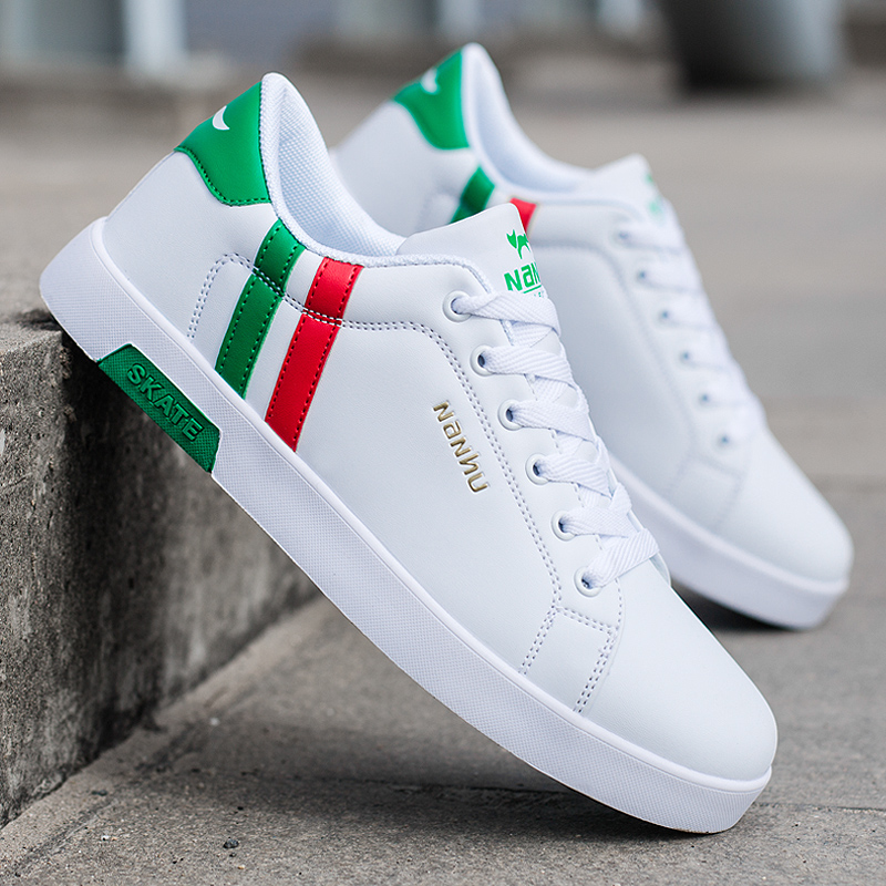 High Quality Brand Men Casual Shoes Hot sale Spring Autumn Casual Shoes Men Breathable Fashion Green Casual Men Shoes White