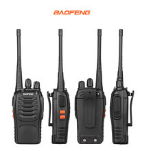 4PCS/Lot Baofeng BF-666S Two-Way Radio 1800mAh Battery UHF400-470MHz 16CH Black CB Radio Communicador Transceiver Transmitter
