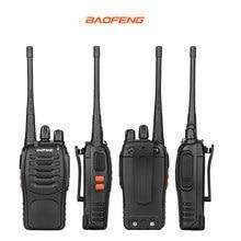 4PCS/Lot Baofeng BF-666S Two-Way Radio 1800mAh Battery UHF400-470MHz 16CH Black CB Radio Communicador Transceiver Transmitter