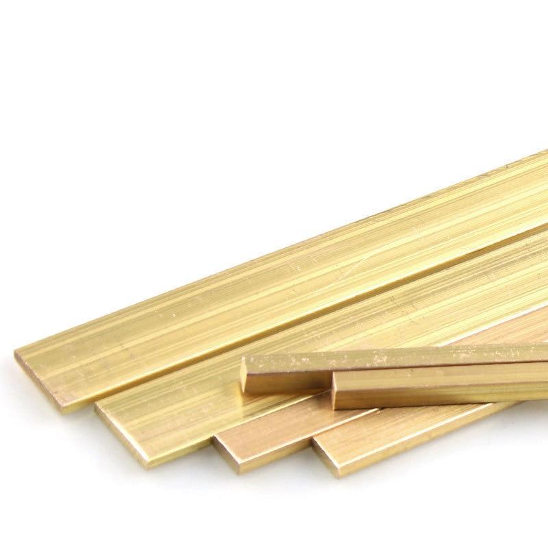 H59 Brass Row Flat Bar Brass Plate Copper Sheet Square Copper Block Zero Cut 3/5/6/8/10/15/20mm