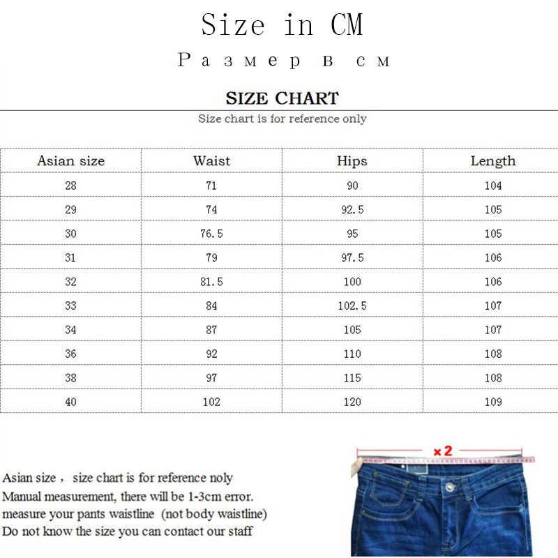 Xuansheng calças de brim masculinas retas 2019 meia-idade grosso azul preto estiramento marca clássico moda streetwear roupas jeans