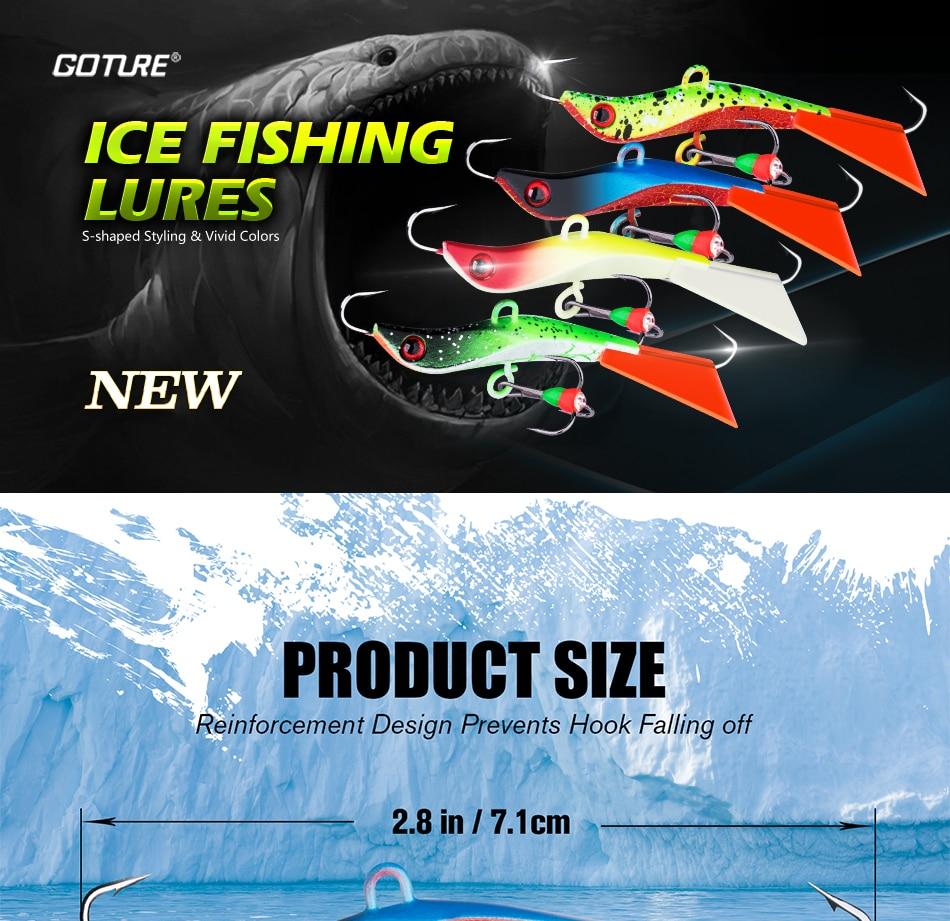 Goture 4 шт/лот приманка для зимней рыбалки джиг жесткая воблеры