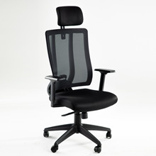 Task-Chair Ergonomic Executive-Swivel Mesh Office Arm-Rest Black Lumbar Support