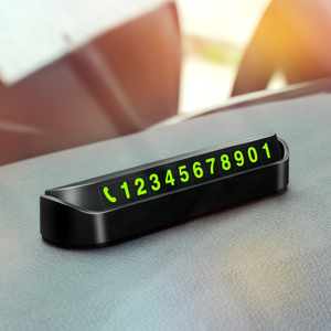 Hideable Car Temporary Parking Card Phone Number Card Sticker For Daewoo Winstorm Nubira Sens Tosca Matiz Nexia(China)
