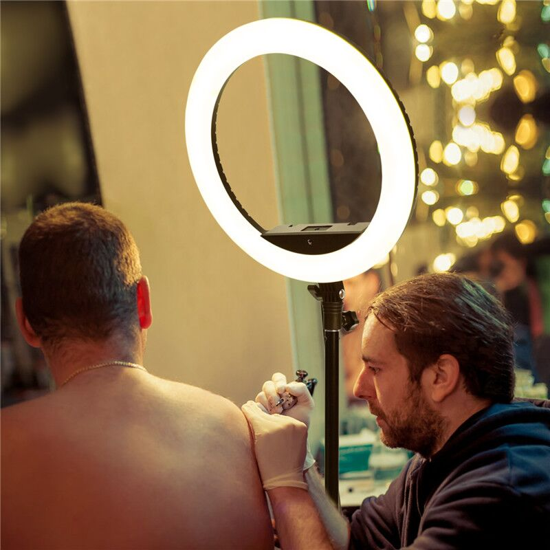 H239e0daa26a34838a084ef11ef59cfdbC fosoto LED Ring Light Selfie Photo Photography Lighting Ringlight lamp With Tripod Stand For Photo Studio Makeup Video Live Show