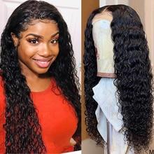 Парик для влажных и волнистых волос, 360 натуральные волосы, предварительно выщипанные, 150%