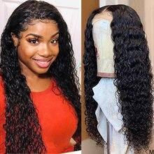 Peluca húmeda y ondulada 360, peluca frontal de encaje prearrancada con cabello de bebé, pelucas de cabello humano con onda de encaje frontal, peluca de cabello humano rizado 150%