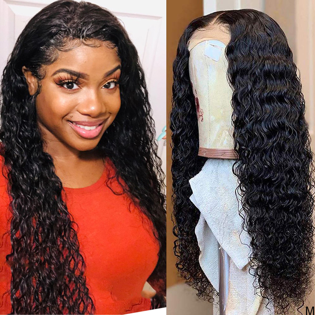 Wet and Wavy Wig 360 lace frontal wig pre plucked with baby hair Water Wave Lace Front Human Hair Wigs Curly Human Hair Wig 150%
