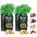 Выращивание картофеля Bag, полиэтиленовый пакет для овощей, лука, растений с ручкой, утолщенный садовый мешок для выращивания моркови, таро, а...